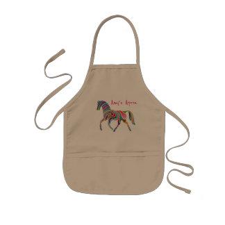 Joli et coloré cheval d'arc-en-ciel tablier enfant