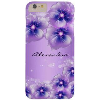 Joli lilas de pourpre de fleurs coque iPhone 6 plus barely there