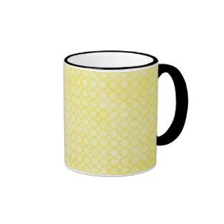 Joli motif jaune citron mugs à café