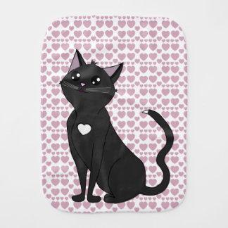 Jolia the Cat, Admire Me! Heart set Burp Cloth