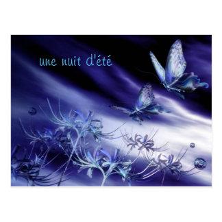 jolie carte postale papillon de nuit d'été