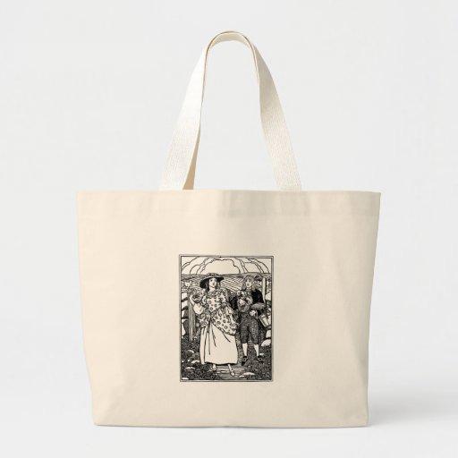 Jolie comptine de domestique sac en toile