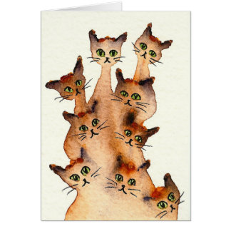 Joliet Whimsical Cats Card