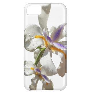 Jolis blanc et pourpre d'iris coque iPhone 5C