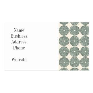 Jolis boutons argentés de disques de motif de cerc modèles de cartes de visite