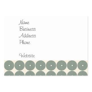 Jolis boutons argentés de disques de motif de cerc cartes de visite personnelles