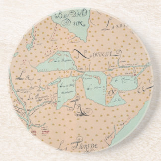 JOLLIET: NORTH AMERICA 1674 DRINK COASTERS