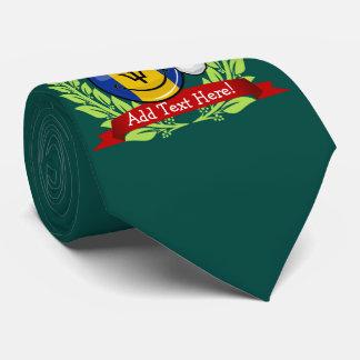 Jolly Barbados Flag Christmas Style Tie