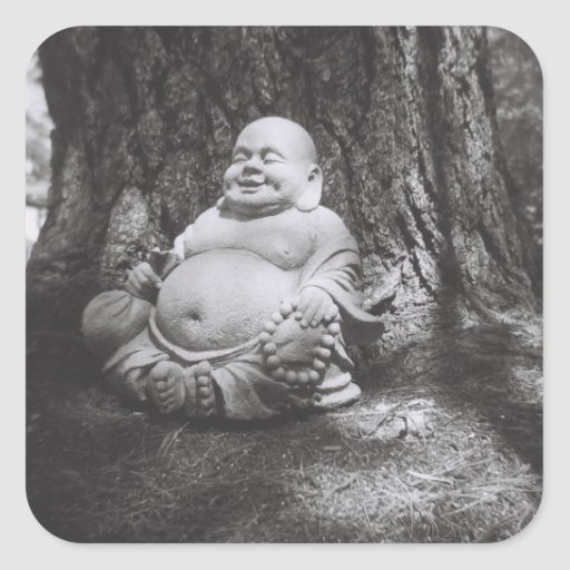 Jolly Buddha Square Stickers