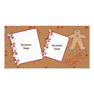 Jolly Christmas - Gingerbread Design Card