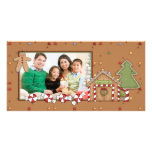 Jolly Christmas - Gingerbread House Photo Card Template