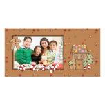 Jolly Christmas - Gingerbread House Customized Photo Card