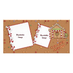 Jolly Christmas - Gingerbread House Picture Card