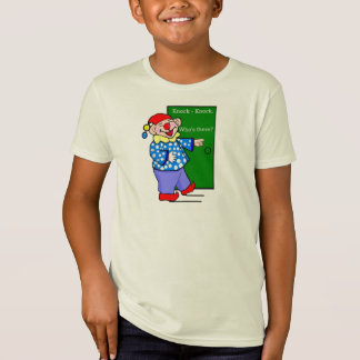 Jolly Clown With Knock-Knock Joke T-Shirt
