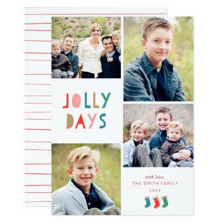 Jolly Days Holiday Photo Card
