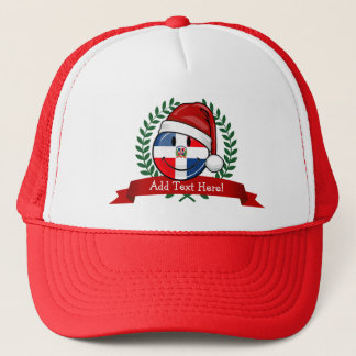 Jolly Dominican Republic Flag Christmas Trucker Hat