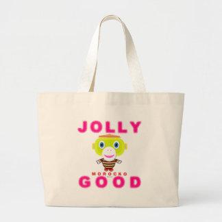 Jolly Good-Cute Monkey-Morocko Large Tote Bag