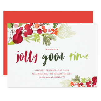 Jolly Good Time Holiday Party Invitation