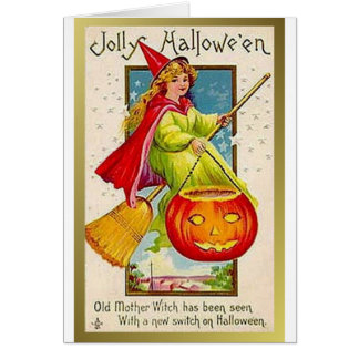 Jolly Halloween Old Mother Witch (Altered) Card
