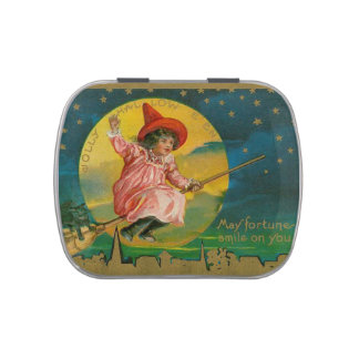 Jolly Halloween Vintage Witch