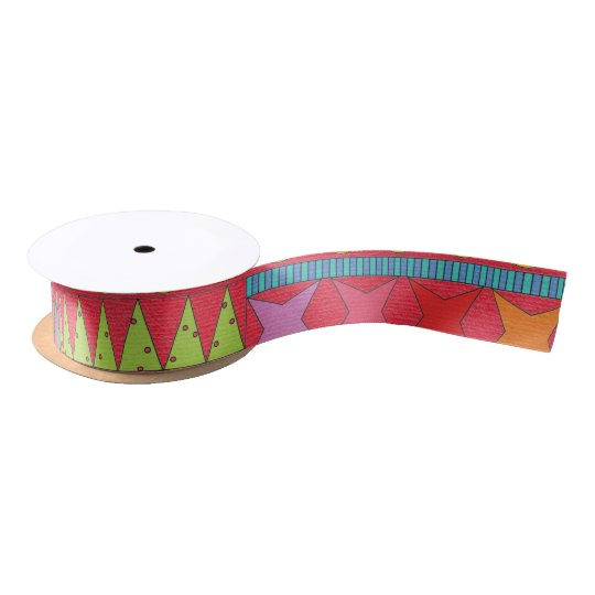 Jolly Happy Red Satin Ribbon