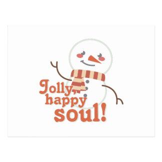 Jolly Happy Soul Postcard