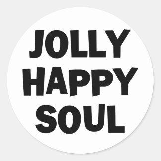 Jolly Happy Soul Round Sticker