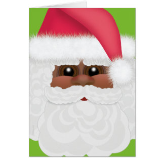 Jolly Holiday Black or African American Santa Card