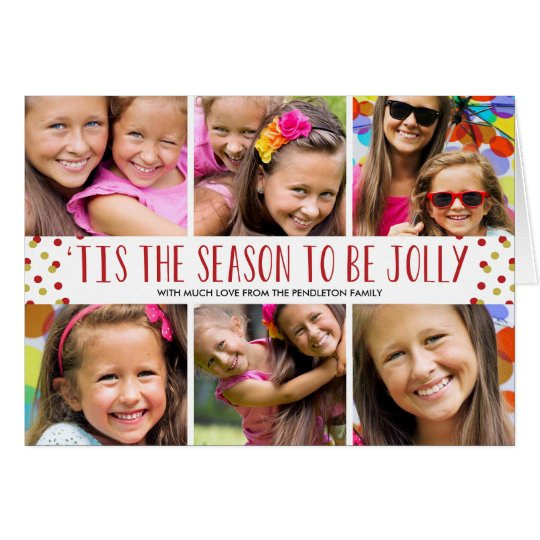 Jolly Holiday Multi-Photo Folded Card