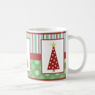 Jolly Holiday Red Polka Dot Tree Christmas Coffee Mug