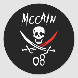 Jolly McCAIN 08 {Blood Tip} Round Sticker