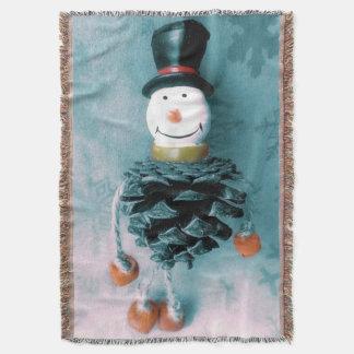 Jolly Old Snowman Throw Blanket