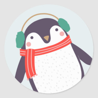 Jolly Penguin Classic Round Sticker