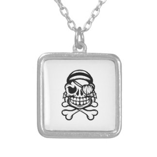 Jolly Pirate Silver Plated Necklace