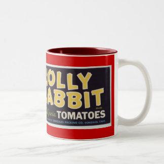 Jolly Rabbit Tomatoes Two-Tone Coffee Mug