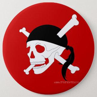 Jolly Roger #1 6 Inch Round Button
