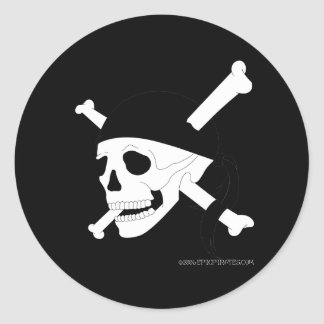 Jolly Roger #1 Classic Round Sticker