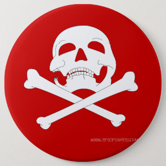 Jolly-Roger #4  6 Inch Round Button