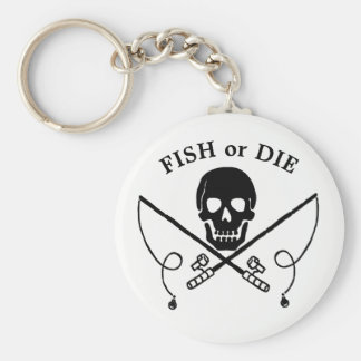 Jolly Roger Fisherman Pirate Keychain