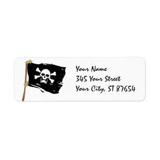 Jolly Roger Label Return Address Label