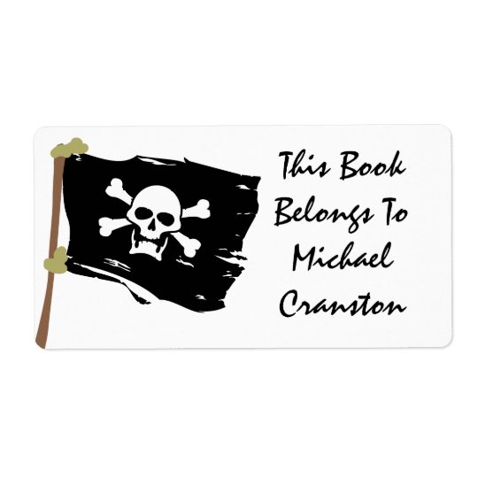 Jolly Roger Label Shipping Label