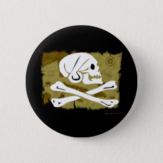 Jolly Roger Map #4 2 Inch Round Button
