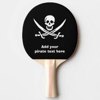 Jolly roger pirate flag ping pong paddle