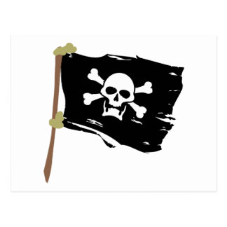 Jolly Roger Pirate Flag Post Card