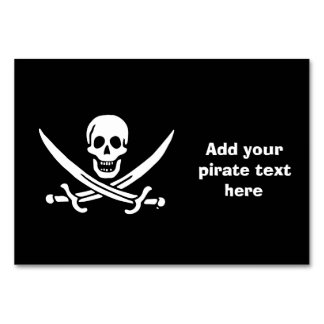 Jolly roger pirate flag table cards