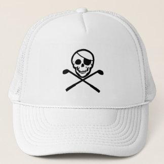 Jolly Roger Pirate Golfer Cap