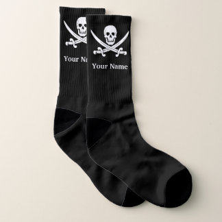 Jolly roger pirate skull socks