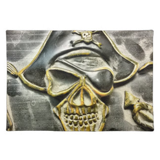 Jolly Roger Pirate Treasure Chest Placemat