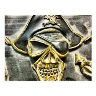 Jolly Roger Pirate Treasure Chest Postcard