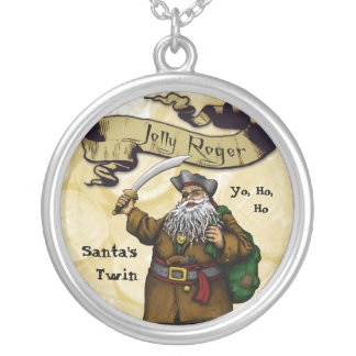 Jolly Roger - Santa's Twin Silver Plated Necklace